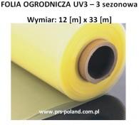 FOLIA UV3 III sezonowa 12x33m
