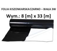Folia Kiszon. Czarno - Biała 8x33