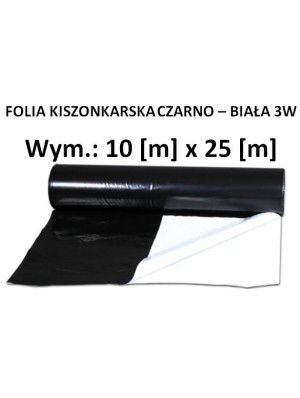 Folia Czarno - Biała 10x25