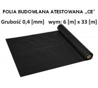 """Folia Budowlana 6x33 gr: 0,4 """"CE"""""""