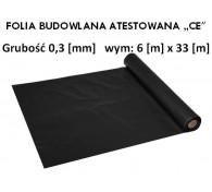 """Folia Budowlana 6x33 gr: 0,3 """"CE"""""""