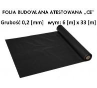 """Folia Budowlana 6x33 gr: 0,2 """"CE"""""""