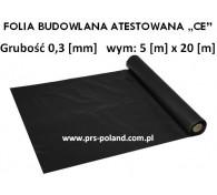"""Folia Budowlana 5x20 gr: 0,3 """"CE"""""""
