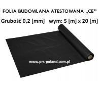 """Folia Budowlana 5x20 gr: 0,2 """"CE"""""""